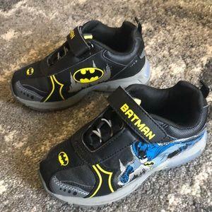 Batman sneakers for toddler boys